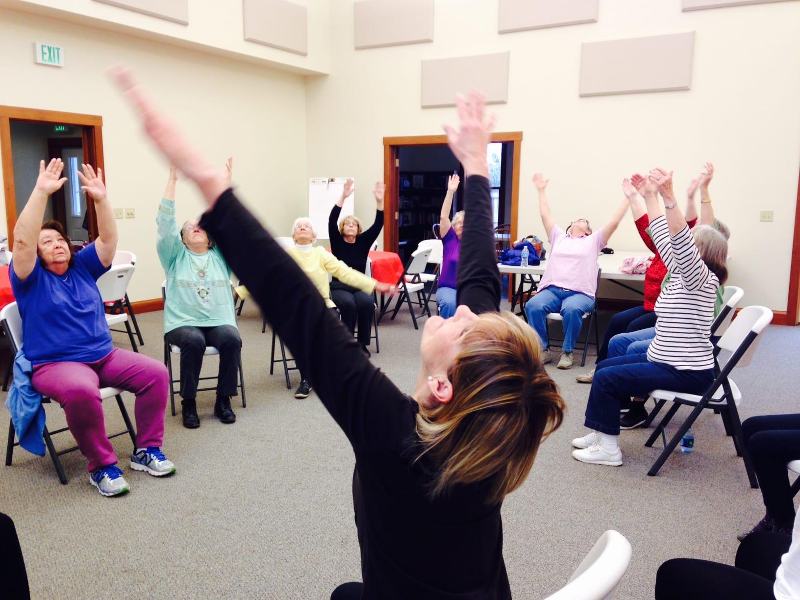 Free Chair Yoga Class Visit New Harmonyvisit New Harmony