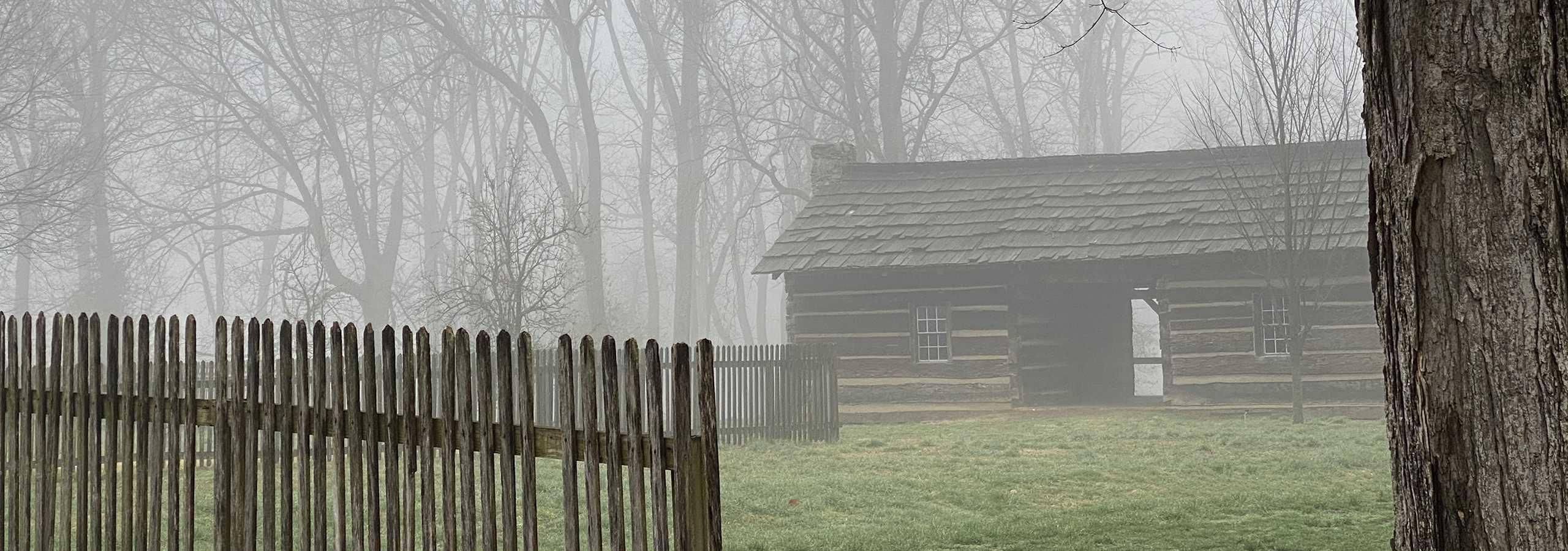New Harmony Historic Double Log Cabin