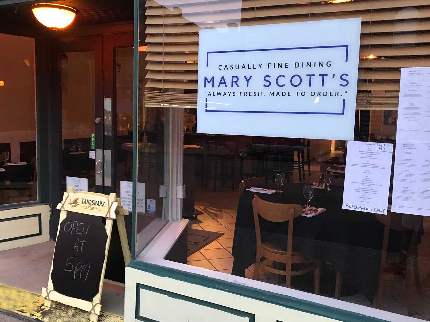 New Harmony Mary Scott's Casually Fine Dining