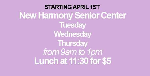 New Harmony Senior Cent Plate Lunch