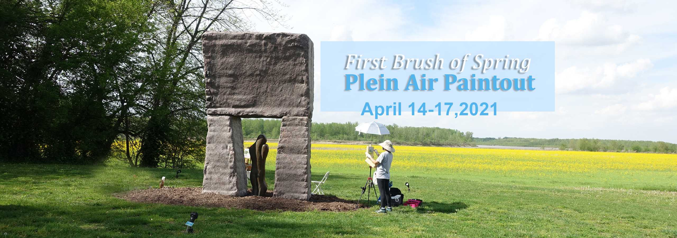 First Brush of Spring Plein Air Paintout