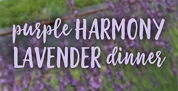 New Harmony dinner at Harmony Lavender Farm