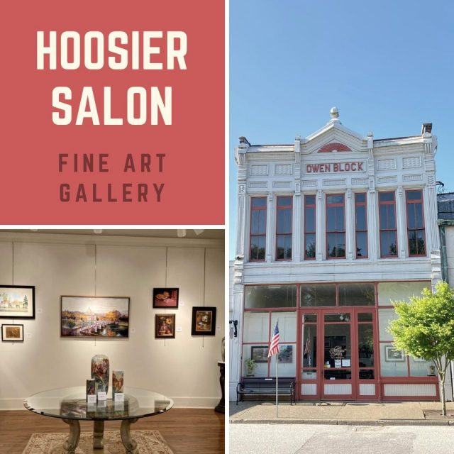 Do you admire art? Visit the Hoosier Salon in New Harmony! The Hoosier Salon is a fine art gallery specializing in Indiana artists working in realistic & impressionist art. Selling original art, prints, note cards, jewelry, & handcrafted items. #VisitNewHarmony #NewHarmonyArt #ShopNewHarmony