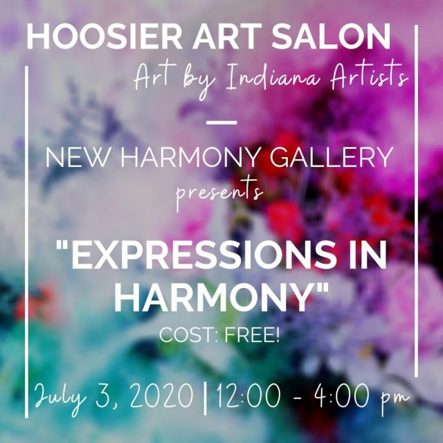 "The Hoosier Art Salon invites you to visit their new exhibit ""Expressions in Harmony"" featuring the artwork of Justin Johnson, Curt Stanfield and Mark Vander Vinne. The exhibit will run 12-4 p.m. Friday and Saturday through July 26th. #VisitNewHarmony #NewHarmonyArt"