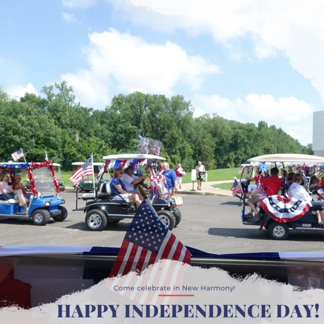 God bless America. Come celebrate Independence Day in New Harmony! #VisitNewHarmony #CelebrateInNewHarmony