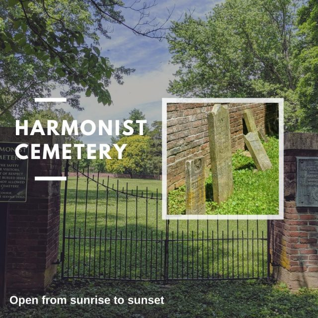 Are you a history buff? Come check out the historic Harmonist Cemetery! The Harmonists established the cemetery at the beginning of their settlement in New Harmony as the resting place for over 200 members who died due to the harsh conditions of their new frontier life. #VisitNewHarmony #VisitLearnStayNewHarmony