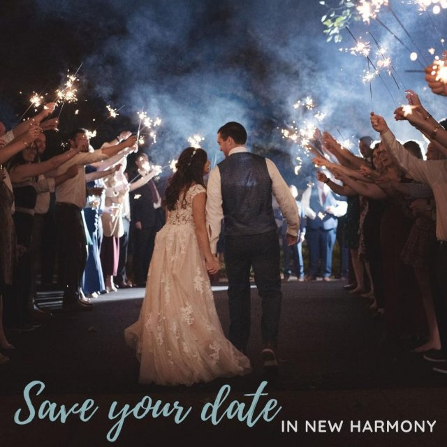 Looking for the perfect wedding venue? Save your date at one of our many beautiful wedding venues here in New Harmony! #VisitNewHarmony #NewHarmonyWedding #CelebrateInNewHarmony