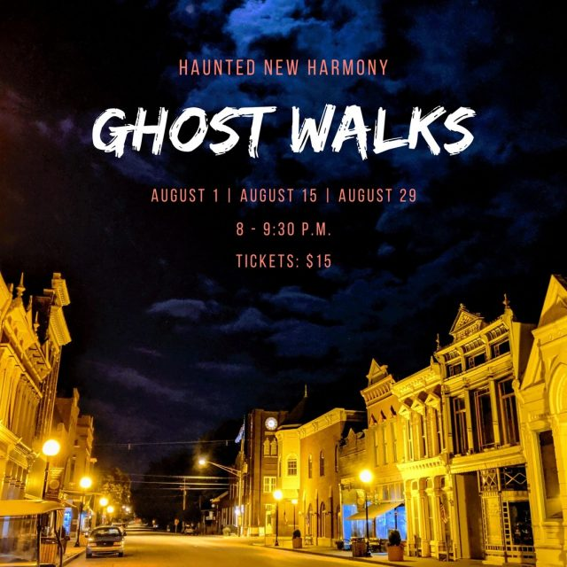 Join paranormal investigator and author Joni Mayhan on a moonlit stroll through New Harmony's haunted streets as she regales you with the history and hauntings of this unique town. This 90 minute walking tour is held outdoors and tours are limited to 15 or less people to allow for safe social distancing. Tickets can be purchased at HauntedNewHarmony.com #VisitNewHarmony #FunInUtopia