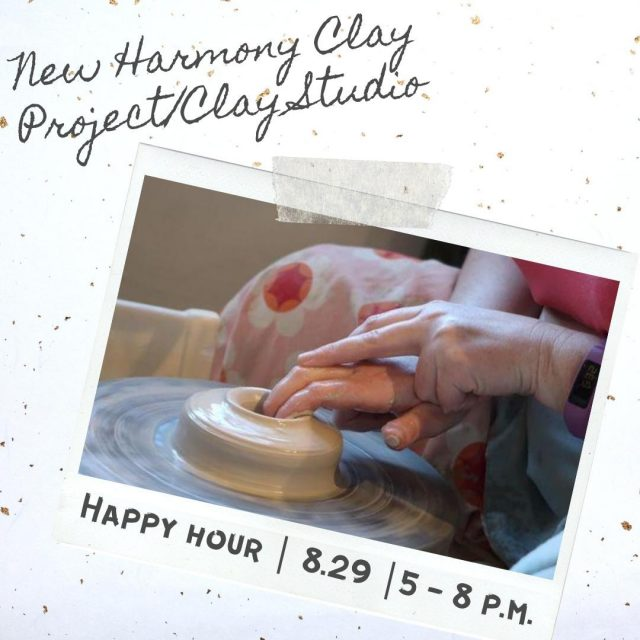 New Harmony Clay Project (NHCP) is an artist residency and educational center located in historic New Harmony. NHCP is offering a Happy Hour event on Saturday, August 29th from 5-8 p.m. Check out their website to reserve your spot! #VisitNewHarmony #NewHarmonyArt #NewHarmonyArtisans