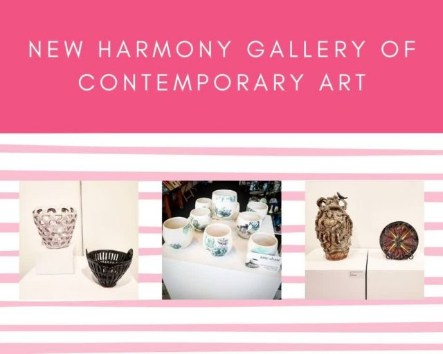 This not-for-profit gallery features a rotating exhibition space and a consignment shop.  All the artists represented are either currently Midwest-based or have a strong tie to the Midwest and/or New Harmony.  Their artwork is on display and available for sale in the shop year-round. #VisitNewHarmony #NewHarmonyArt