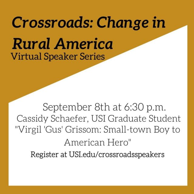 Join us for this installment of a virtual speaker series like no other.  The series encompasses more than five disciplines, with each speaker addressing a topic related to Crossroads:  Change in Rural America.  Please register in advance by visiting usi.edu/crossroadsspeakers.  Sponsored by Hafer. #VisitNewHarmony #HistoricalNewHarmony
