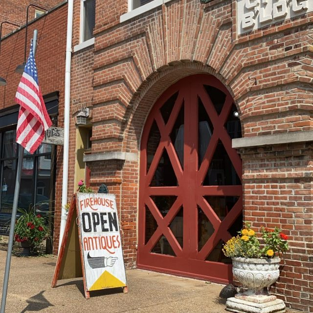 It's been a while since I shared we have an open shop in a beautiful small town in Indiana. .... We are open Friday & Saturday 10-5 or by appointment.  .... Located in SW INdiana near the Illinois state line, 7 miles off I-64, exit 4, New Harmony.  .... Located in an 1899 Firehouse that we restored 17 years ago.  .... #firehouseantiques  #shoplocal  #visitindiana  #visitnewharmony  #visitposeycounty  #newharmonyindiana  #farmsigns #vintage #antiques #antiqueshops  #indianaantiques  #indianaantiqueshops  #newharmony  #historicpreservation  #historicfirehouse  #vintagedecor