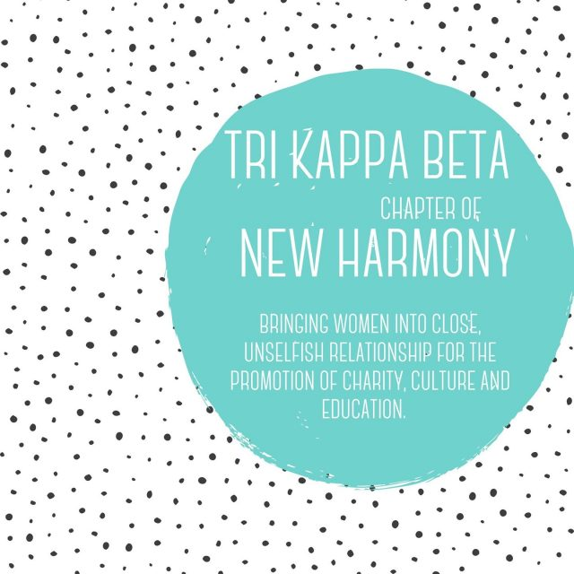 Looking to join an organization in New Harmony? Tri Kappa is a philanthropic organization that exists only within the boundaries of the state of Indiana. This organization's mission is bring women into close, unselfish relationship for the promotion of charity, culture and education. #VisitNewHarmony #PhilanthropyInNewHarmony