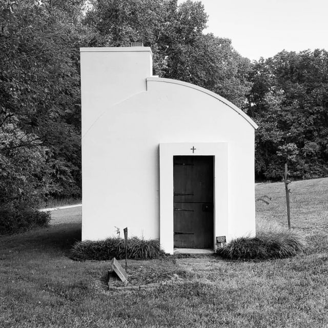 tiny chapel in the woods . . . Chapel of Little Portion . . . New Harmony, Indiana