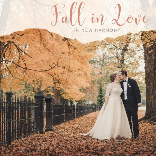 Fall in love in New Harmony and have your wedding in this amazing historic town.  New Harmony has plenty of indoor and outdoor wedding venues to make your special day magical. Start planning your wedding in New Harmony! #VisitNewHarmony #NewHarmonyWedding