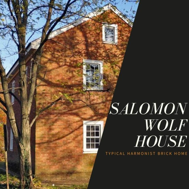 The Salomon Wolf House is an excellent example of a typical Harmonist brick home, with three rooms on each floor, an attic, and a root cellar. You can learn more about this home on one of the Historic New Harmony Guided Tours! #VisitNewHarmony #ExperienceNewHarmony