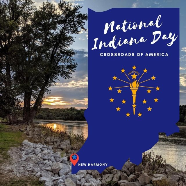 Indiana was the 19th state to enter the Union. Today we celebrate Hoosier Hospitality for #NationalIndianaDay! Explore New Harmony to understand its rich history in Indiana. #VisitNewHarmony #ExploreNewHarmony #OnlyInNewHarmony