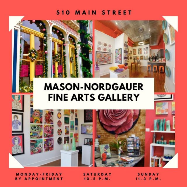 The Mason-Nordgauer Fine Arts Gallery has amazing works of art for sale from local, national and international artists. In the Gallery you will find art in many different forms — ceramics, digital print, glass, mixed media, paintings, print and sculpture. Stop by and check out the unique pieces they have! #VisitNewHarmony #NewHarmonyArt #ShopLocalinNewHarmony #OnlyInNewHarmony #ChristmasinNewHarmony #SmallTownChristmas