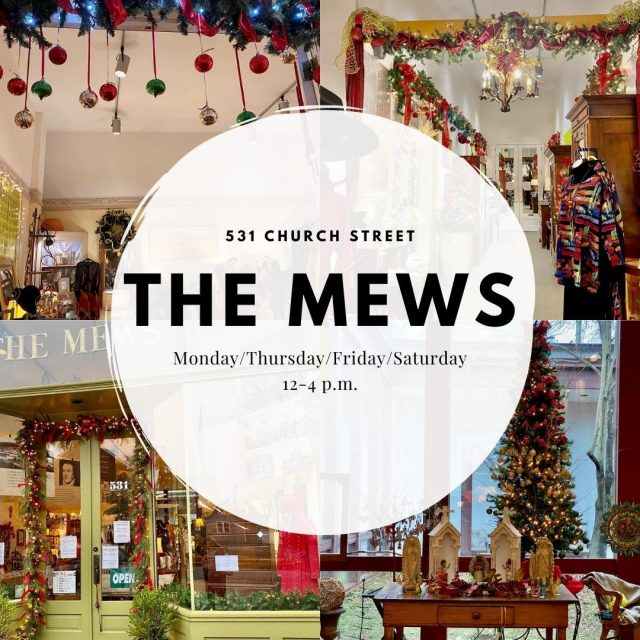 The Mews is a mix of 11 shops in one, and it has everything you can think of. From beautiful antique pieces to books to women's apparel and accessories to garden iron and food, there is something for everyone on your list! #VisitNewHarmony #ShopNewHarmony #TheMews #OnlyInNewHarmony #ChristmasinNewHarmony #SmallTownChristmas