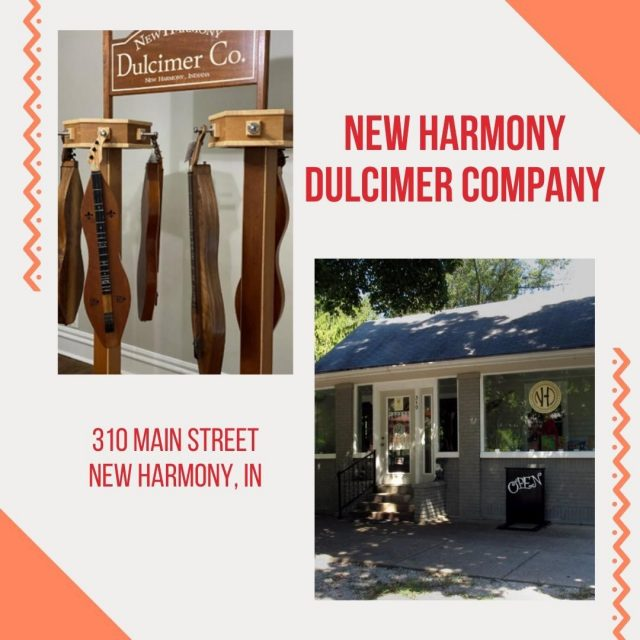Christmas is over -- now it's time to get what YOU want!  Visit the New Harmony Dulcimer Company to experience some of the finest mountain dulcimers available, made right here in New Harmony.  You'll also find art, accessories, other instruments, and sheet music.  #VisitNewHarmony #NewHarmonyDulcimers