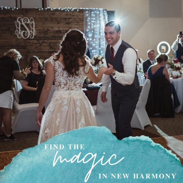 "Find the magic in New Harmony. New Harmony offers a variety of indoor event venues for you and your significant other to say ""I do"" #VisitNewHarmony #OnlyinNewHarmony #NewHarmonyEvents"
