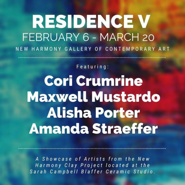 The Residence V is an annual exhibition that showcases the resident artists from the New Harmony Clay Project. From February 6th to March 20th, stop by the New Harmony Gallery of Contemporary Art to see all of the beautiful ceramic projects crafted by local artists! #VisitNewHarmony #NewHarmonyArt #OnlyinNewHarmony