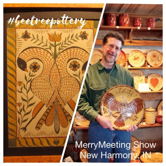 Another reason for our building excitement!  Coming to the Granary.  November 6, 2021. Historic New Harmony, IN. tomwintczak #beetreepottery #redwarepottery #fraktur  #historicdesign #marketlife #potterycollector #artisansmarket  #earlyamericanlife #traditionalhome #americana #visitposeycounty #visitnewharmony #merrymeetingshow