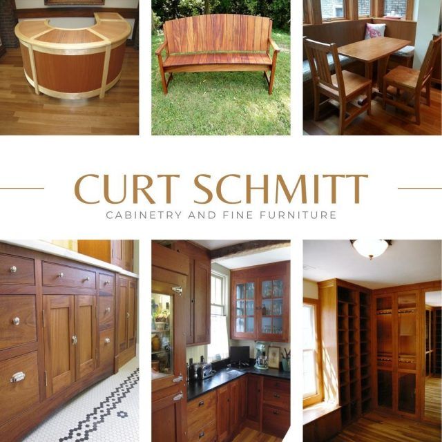 Furniture is meant to be used and it should therefore be solid yet comfortable—and comforting.  Curt Schmitt offers hand crafted fine furniture and cabinetry to complete the look of any room in your house. #VisitNewHarmony #NewHarmonyArtisans #OnlyinNewHarmony