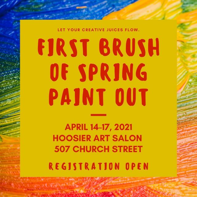The 22nd Annual First Brush of Spring Paint Out is April 14-17, 2021! Register for your chance to win a part of over $15,000 in awards! #VisitNewHarmony #NewHarmonyArt #HooiserSalon #OnlyinNewHarmony