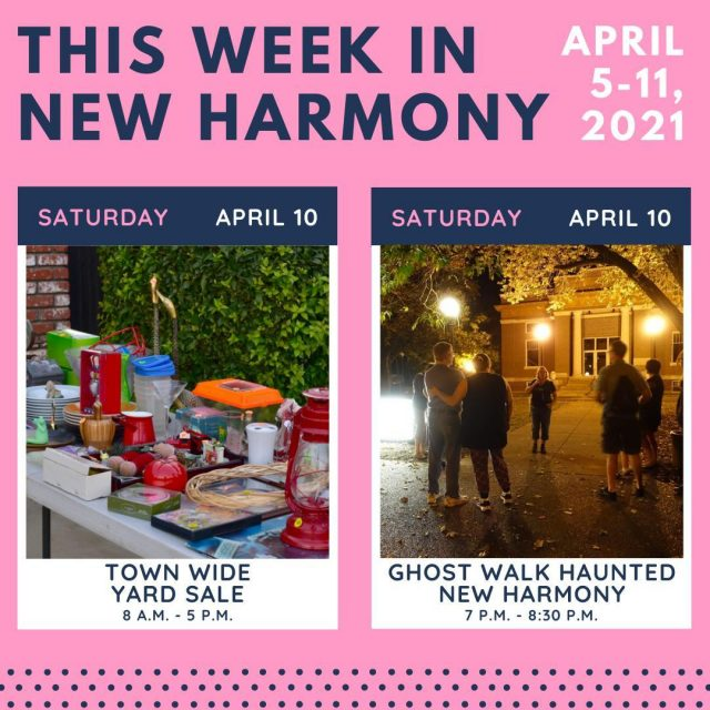 Don't forget to check out these events happening this week in New Harmony!   Click the link in our bio for more information!   #VisitNewHarmony #OnlyinNewHarmony