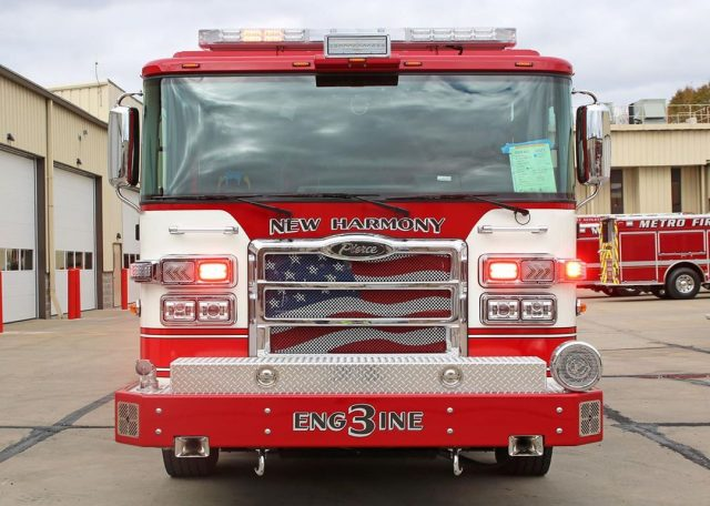 The New Harmony Township Fire Department has designed their 2,500-gallon #Enforcer #PumperTanker to best fit #NewHarmonyIN. To allow for more water supply location options, they decided to add a rear swivel dump shoot. Other features include a #PUCpump, #TAK4 Independent Front Suspension, 20-gallon foam tank, spare SCBA storage on both sides of the rig, and coffin boxes on the top. ⁠⠀ ⁠⠀ Job No: 33577⁠⠀ Dealership: Global Emergency Services