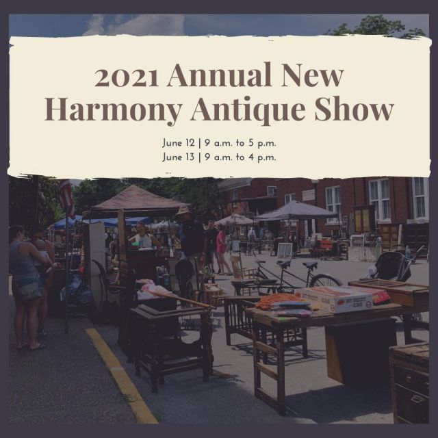 The New Harmony Business Associates invite you to an authentic antique and vintage show in the picturesque small town of New Harmony, Indiana. This exclusive collection of vendors will be set up on Main Street and and beyond in downtown New Harmony, Indiana on June 12th and 13th, 2021. This is a one of a kind indoor and outdoor shopping experience. Come up for the day or the weekend and enjoy the history and beauty of utopian New Harmony while shopping from professional antique and vintage décor vendors. #VisitNewHarmony #NewHarmonyAntiques #OnlyinNewHarmony