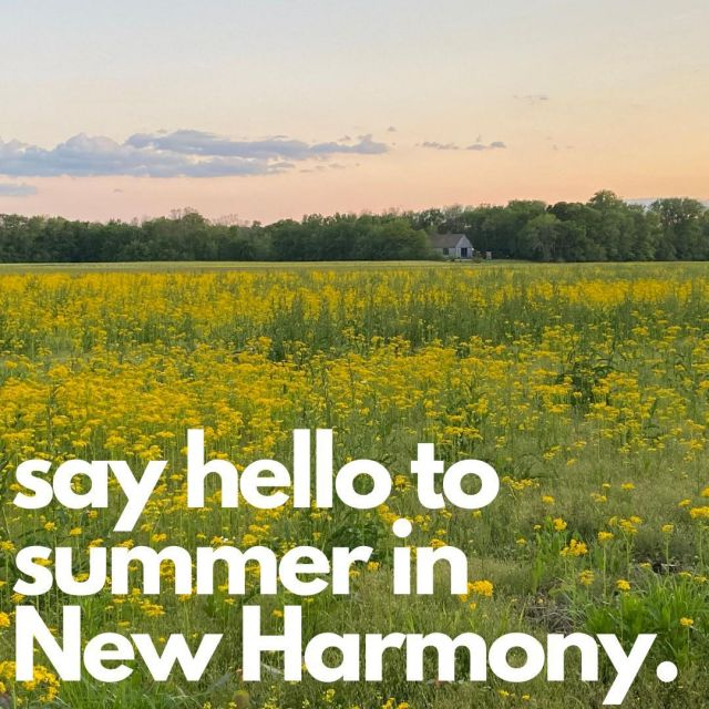 Summer is a wonderful time to visit New Harmony! Take in the quaint beauty of the historic buildings, savor the flavors of the distinctive restaurants, browse the shops, or walk the labyrinths in our welcoming community! #VisitNewHarmony #FirstDayofSummer #OnlyinNewHarmony