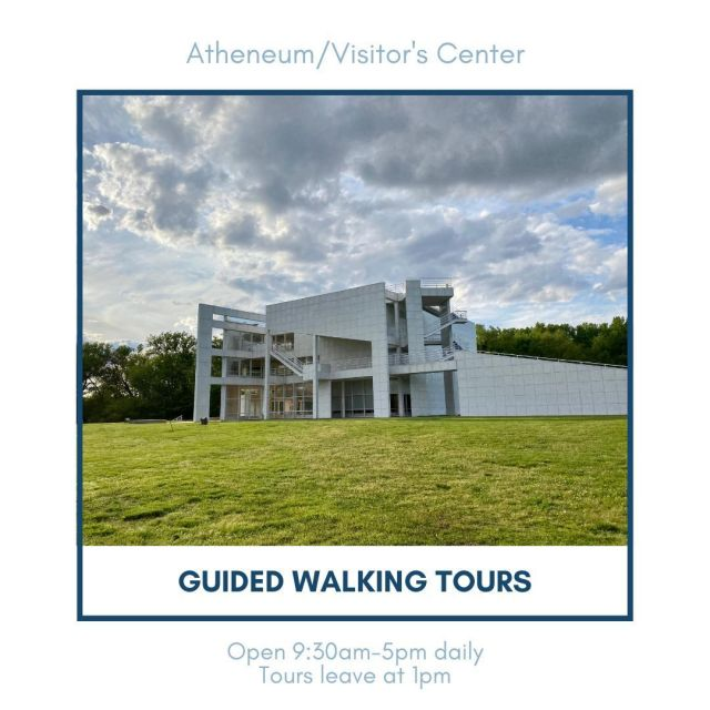 Want to learn about New Harmony's rich history? Take a walking tour through the town! Guided walking tours leave daily at 1 p.m. from the Atheneum. For ticket information, click the link in our bio! #VisitNewHarmony #NewHarmonyHistory #OnlyinNewHarmony