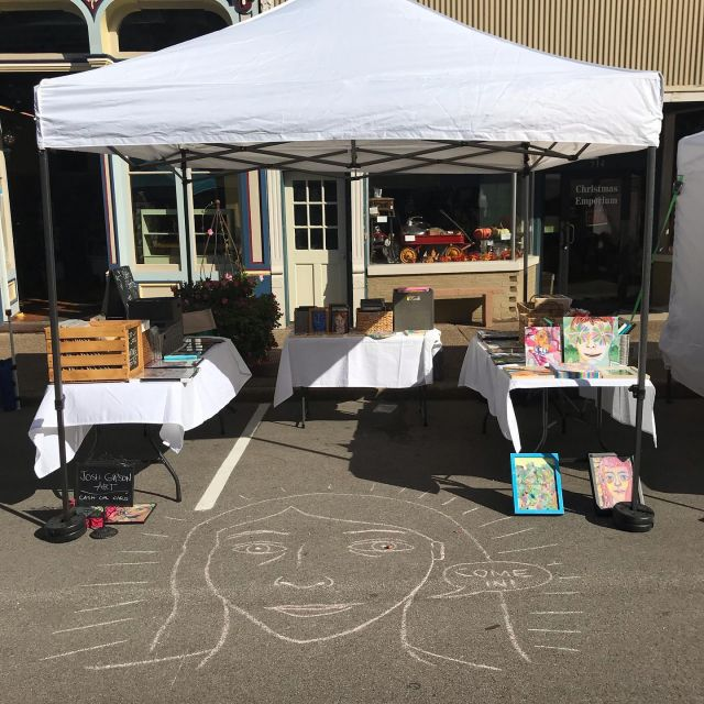 Another successful art festival.  It's great to be back to seeing my buyers in person!  Had a good time this weekend. . . . #artlife #artfestival #artfair #instaartist #chalkart #chalkartist #artsinharmony #newharmony #artistsoninstagram
